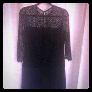 New! St.John Black Lace Dress, sz 6